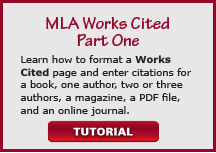 video mla works cited part one