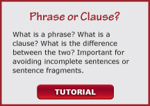 video phrase or clause